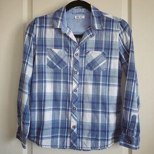 Boy's Dex Plaid Cotton Shirt